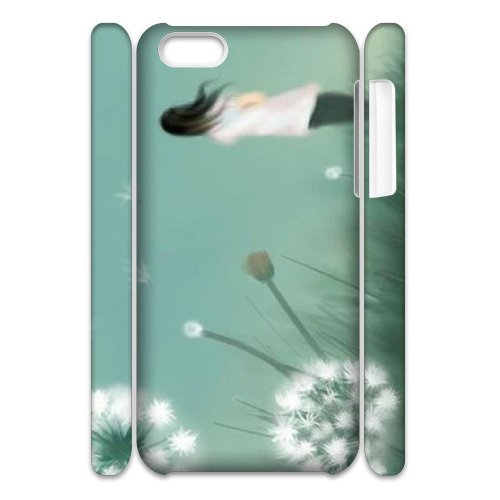 SYYCH Phone case Of Girl and Dandelion Cover Case For Iphone 5C