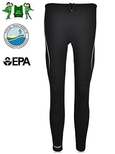 REALON Wetsuit Pants Men Neoprene Swimming Scuba Skin Water Sport Snorkeling Fish Surfing Canoeing XSPAN 2mm Diving Leggings Keep Warm for Women (Black with white, - Swimming Suits Skin