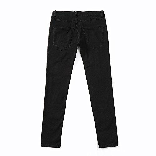 Hombre para Jeans Negro Vaquero UJUNAOR ZCfq6wnBC