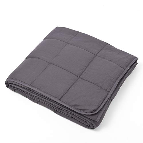 Cheap Simply Superlative Grey Weighted Blanket Twin Size (48