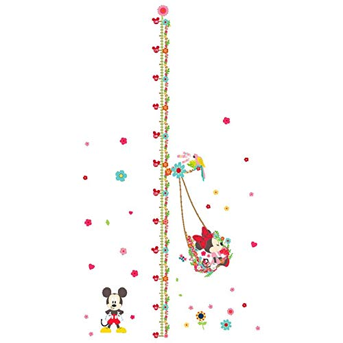 Children Growth Chart Height Stickers Mickey Minnie Mouse 3D Vinyl Wall Decals Room Decoration Cartoon ()