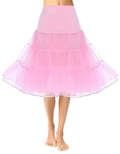 CAISHA Women's 50s Vintage Rockabilly Petticoat, 26