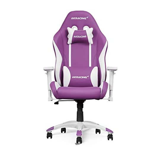 AKRacing California Gaming Chair XS Extra Small, Swivel, Rocker and Seat Height Adjustment Mechanisms with 5/10, Purple