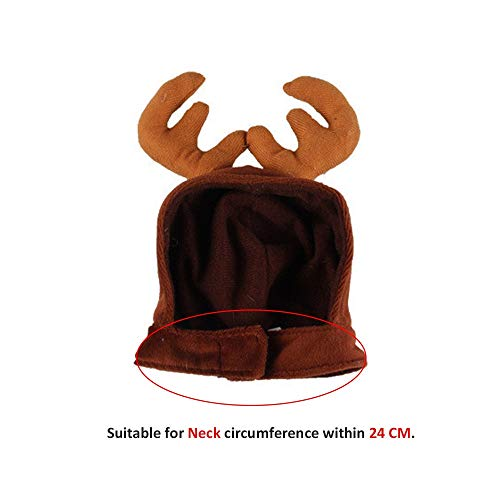 D-ModernPet Dog Costume - Christmas Antler Cap for Cats Xmas Hat for Small Dogs Funny Cat Costume Kitten Puppy Pet Accessories Photos Props Supplies -