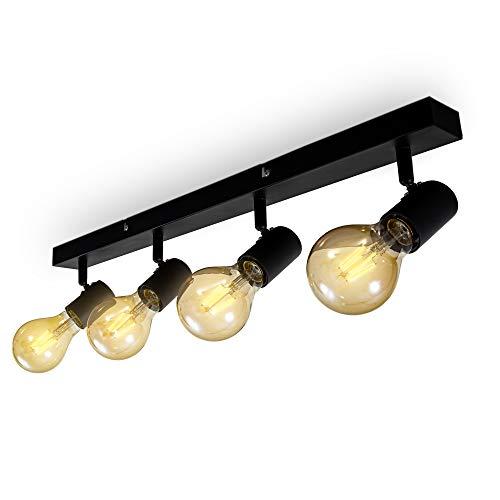 B.K.Licht Vintage plafondlamp I retro plafondlamp excl. 3x max. 60W E27 lampen I plafondlamp in landelijke stijl I…