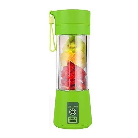 Qualimate Portable Electric USB Juice Maker Juicer Blender Bottle, Multicolour 1