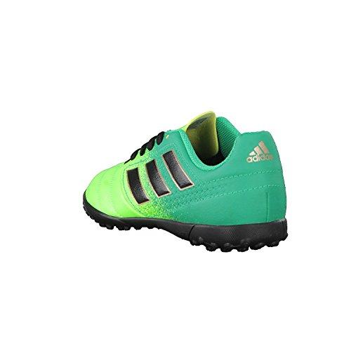 Adidas Ace 17.4 Tf J, pour les Chaussures de Formation de Football Mixte Enfant, Vert (Versol/Negbas/Verbas), 28 EU