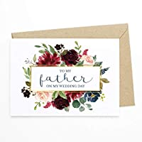 Wedding Day Card - To My Father/Father In Law/Step Father On My Wedding Day