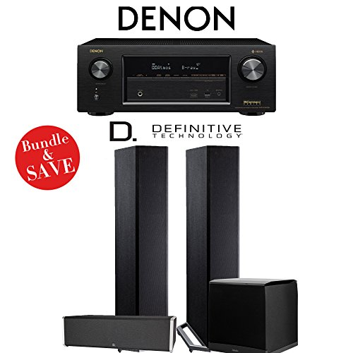Denon AVRX2400H 7.2 Channel Network A/V Receiver + Definitive Technology BP9020 + Definitive Technology CS9040 + Definitive Technology SuperCube4000 - 3.1-Ch Home Theater Package by Definitive Technology