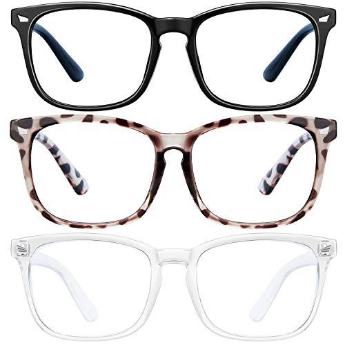 Blue-Light-Blocking-Glasses-3Pack-Computer-Game-Glasses-Square-Eyeglasses-Frame-Blue-Light-Blocker-Glasses-for-Women-Men-Anti-Eye-Eyestrain-Reading-Gaming-Glasses-Non-Prescription