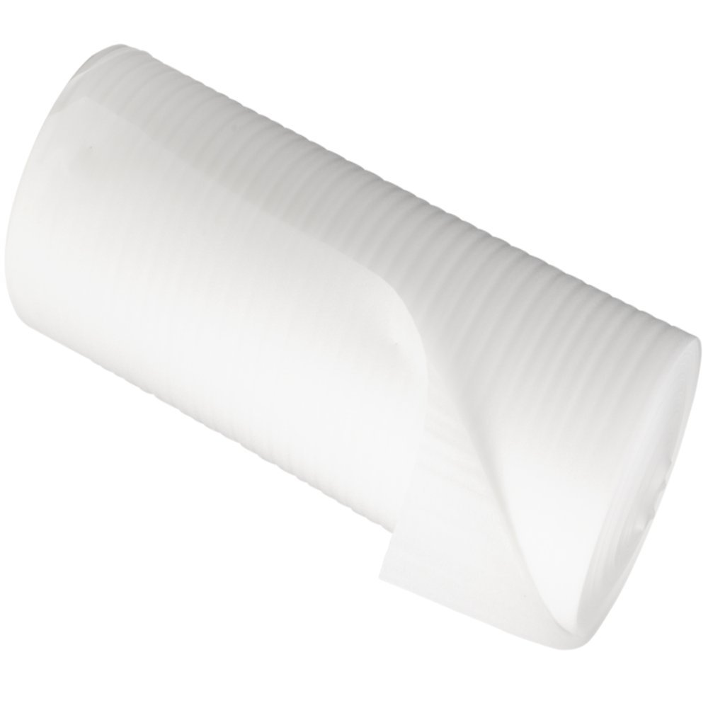 2 Extra Large Rolls Of Soft White Jiffy Foam Wrap - Size 1500mm (1.5 metre) Wide x 200 metres Per Roll - 1.5mm Thick Protective Packaging Packing Insulation Underlay Sheeting Wrapping