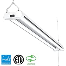 Sunco Lighting 1 PACK - ENERGY STAR, ETL - 4ft 40W LED Utility Shop Light, 4000lm 120W Equivalent, Double Integrated LED Fixture, Ceiling Light, Garage, Frosted (5000K - Daylight) ...