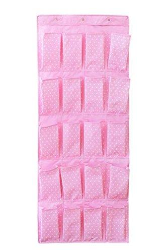 20 Taschen über die Tür Schuh-Organisatoren-hängenden Beutel, Dot Pink