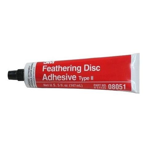 Feathering Disc Adhesive - 3M 08051 Feathering Disc Adhesive (Type 2) Tube - 5 oz. New