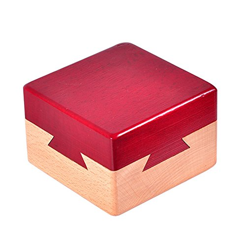 WISDOMTOY Mini 3D Brain Teaser Wooden Magic Drawers Gift Jewelery Box Puzzle Toy ()