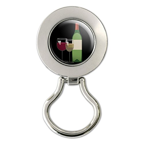 - Wine Vino White Red - Zinfandel Merlot Magnetic Metal Eyeglass Badge Holder