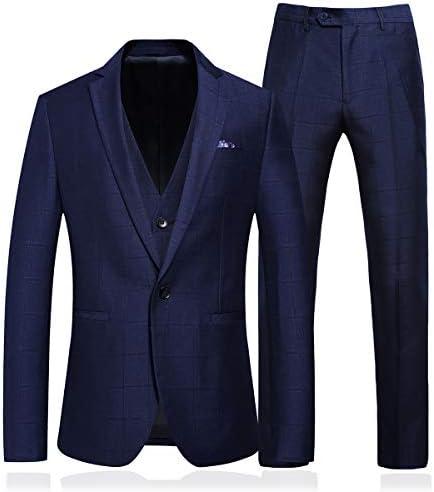 スリーピーススーツ メンズ フォーマルスーツ 3ピース スリムスーツ ビジネス 礼服 秋冬 セットアップ ブルー