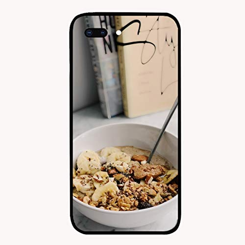 iPhone 7/8 Plus Case,Personalized Bowl Breakfast Cereals Floral Print PC Cellphone Case for [5.5 ()