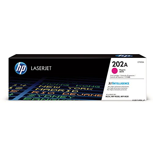 (HP 202A (CF503A) Magenta Toner Cartridge for HP LaserJet Pro M254 M281cdw M281dw)