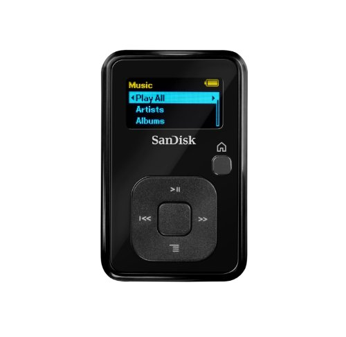 Refurbished Black SanDisk Sansa Clip+ 4 GB MP3 Player