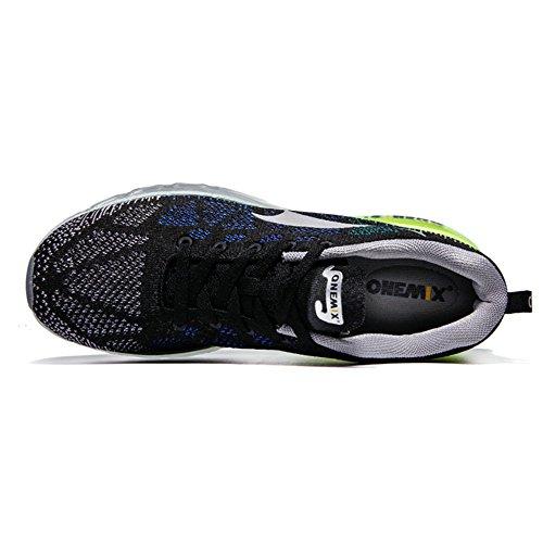 Onemix Hombres Mujer Barato Ligero Zapatillas Trainers Zapatos Deportivos Negro Gris Verde