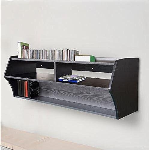 Floating Shelves For Entertainment Center Classy Mounted Floating Entertainment Center Amazon