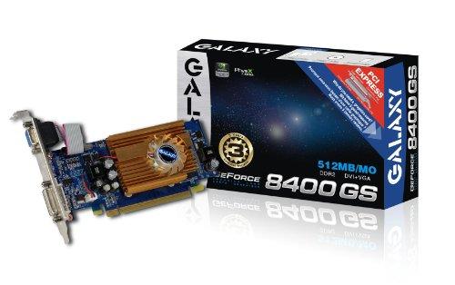 Galaxy GeForce 8400 GS 512 MB GDDR2 PCI Express 2.0 DVI/VGA