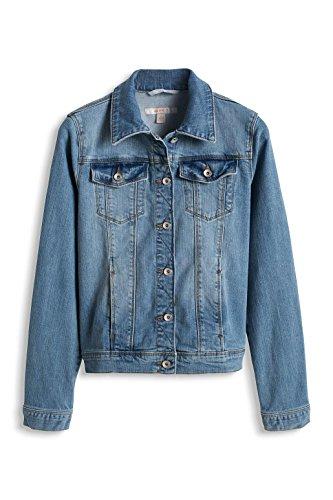 ESPRIT Mädchen Jacke Denim Jacket, Gr. 104 (Herstellergröße: 104/110), Blau (BLUE BLEACHED 904)