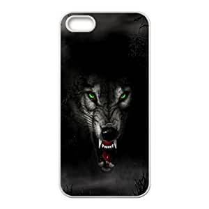 Wolf Face iPhone 4 4s Cell Phone Case White sipd