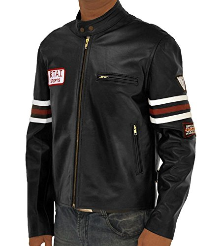 Dr Gregory House Costume (Dr Gregory House MD Costume Gift Ideas Black Real Leather Biker Jacket For Him XXL)