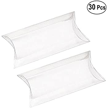 amazon binaryabc clear plastic pillow boxes transparent candy Pillow Plastic Bags binaryabc clear plastic pillow boxes transparent candy box for wedding baby shower party favors