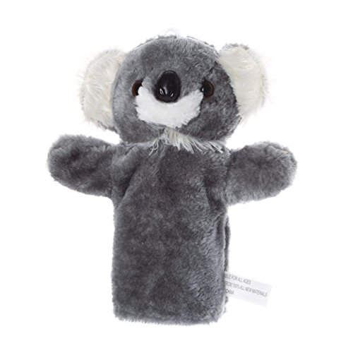 Gbell Glove Hand Puppet Story Doll,Cute Cartoon Animal Kids Soft Plush Toys,Koala Lion Frog Cow (B)