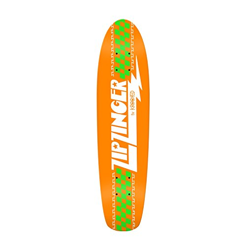 Krooked Skateboard Cruiser Deck Zip Zinger Classic Orange 7.
