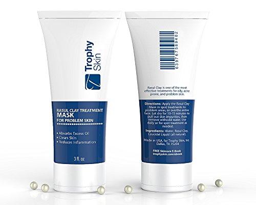 Masque d'argile Rasul (3 oz) de peau de trophée. Argile marocaine lave riche en minéraux pour grasse, acné encline ou problème de peau.