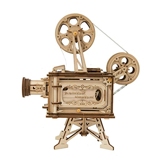 ROBOTIME 3D Wooden Puzzle Model Kits to Build for Adults DIY Unique Gifts Mechanical Puzzle (Vitascope) (Best Models To Build)