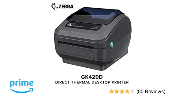 Zebra - GK420d Direct Thermal Desktop Printer for Labels, Receipts,  Barcodes, Tags, and Wrist Bands - Print Width of 4 in - USB, Serial, and  Parallel