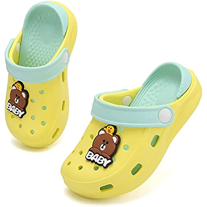 OHSNMAKSL Toddler Garden Clogs Slip On Water Shoes Boys Slippers Girls Sandals Sneakers for Children Beach Pool Shower