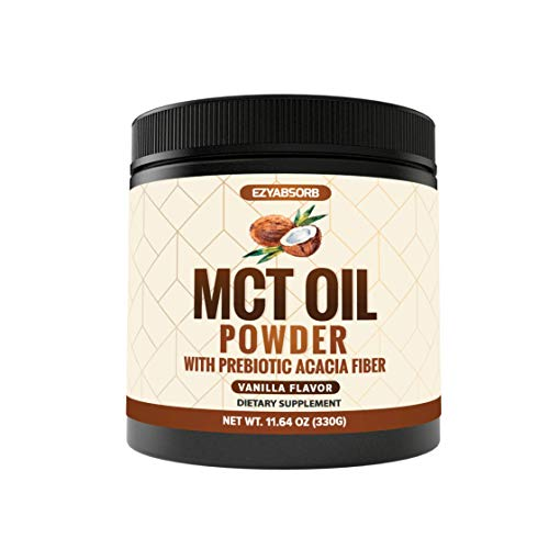 EzyAbsorb MCT Oil Powder - Keto Friendly Fat Source for Ketosis - Ketone Energy Supplement on Ketogenic Diet - Easy to Absorb & Digest in Smoothies & Shakes or Keto Coffeev 16oz