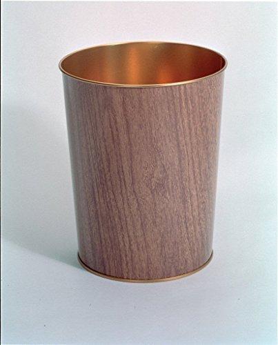 Wood Effect Waste Paper Bin