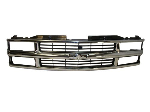 (1994 1995 1996 1997 1998 1999 CHEVY SUBURBAN GRILLE CHROME / BLACK NEW)