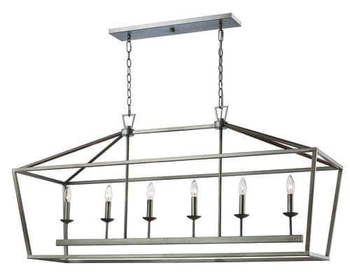 (Bel Air Lighting Caged 6 Light Island Light )