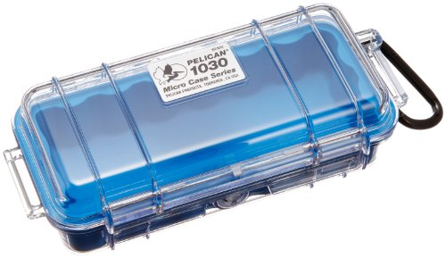 Waterproof Case | Pelican 1030 Micro Case - for GoPro, camera, and more - Micro Case Blue Pelican