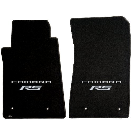 Lloyd Mats VT-CAM4-BLK-S-RS 2010-12 Camaro Floor Mats Black With Silver Camaro Lettering And RS Logo