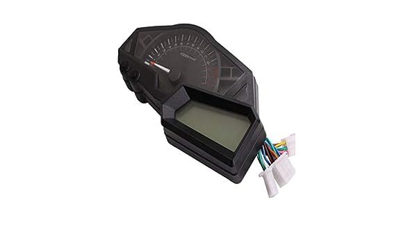 Gazechimp Velocímetro de Tacómetro de Impermeable para ...