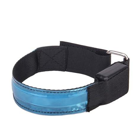 xinhenchen Hohe Sichtbarkeit Running Radfahren verstellbar Reflective LED blinkendes Stoff Armband