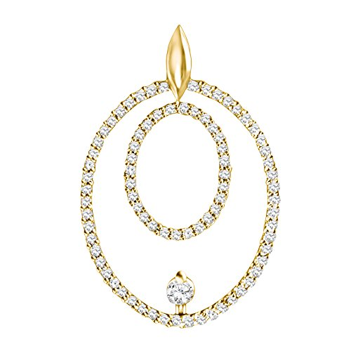 - TwoBirch 14k Yellow Gold 14k Yellow gold Double Circle Pendant with Chain set with Diamonds G-H I1-I2 (0.45 ct. twt.) with Diamonds (0.45 ct. twt.)