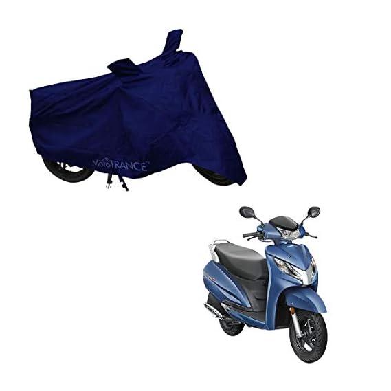 Mototrance - MT801699 Blue Bike Body Cover for Honda Activa 125