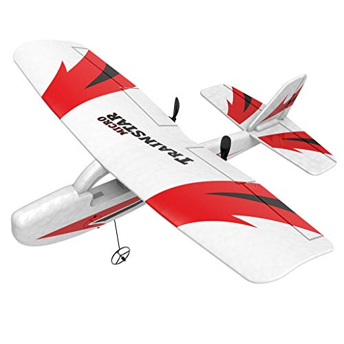 Fewear RC Airplane RTF (Ready to Fly), 2 Channel Remote Control Airplane RC Plane Drone with 2.4GHz Radio Control, Durable EPP Foam Easy to Fly for Beginners,Mini RTF Aircraft for -