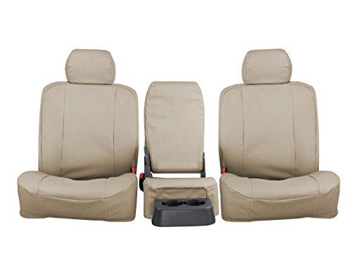 Rear SEAT: ShearComfort Custom Pro-Tect Vinyl Seat Covers for GMC C/K Pickup (1988-1994) in Tan for Solid Fold Up Bench