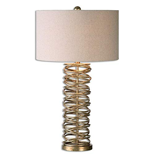 Uttermost 26609-1 Amarey Metal Ring Table Lamp, - Uttermost Champagne